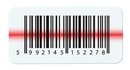 barcode scan: Vector barcode isolated on white Illustration