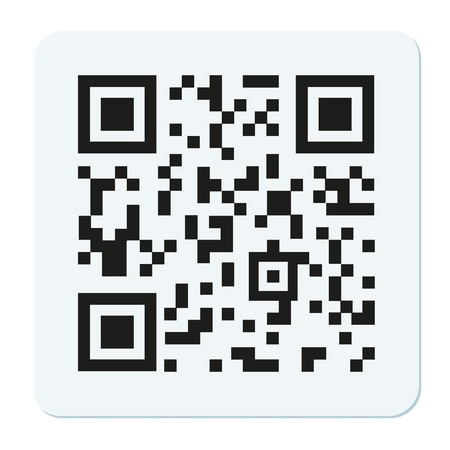 qr: Vector qr code isolated on white Illustration