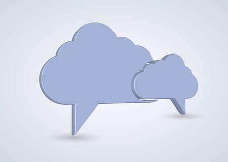 Vector concept computer cloud with bubble speech Stock Vector - 12763481