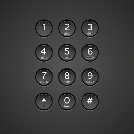 keypad: Vector phone keypad background Illustration