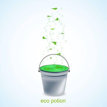 Vector eco potion. Vector