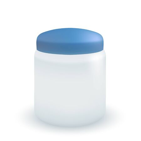 Vector container for cream or soap isolated on white. Stock Vector - 12763449