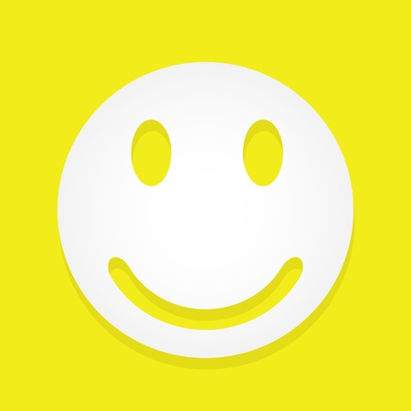 round face: Vector smiley  Illustration