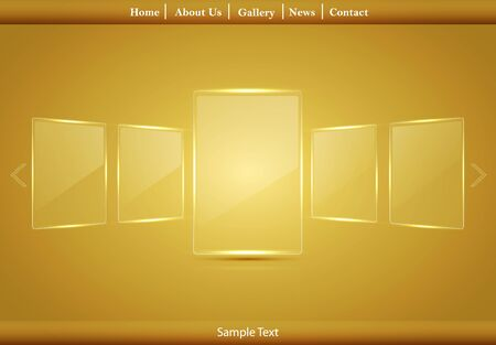 Vector glass picture gallery Stock Vector - 12763459