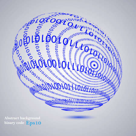 Vector binary code abstract background. Eps10 Vector