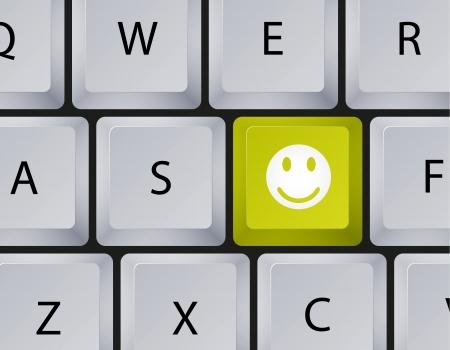 teclado: Vector teclado con bot�n sonriente. Eps10