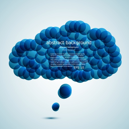 Vector glossy computer cloud. bubble speech.  Vector