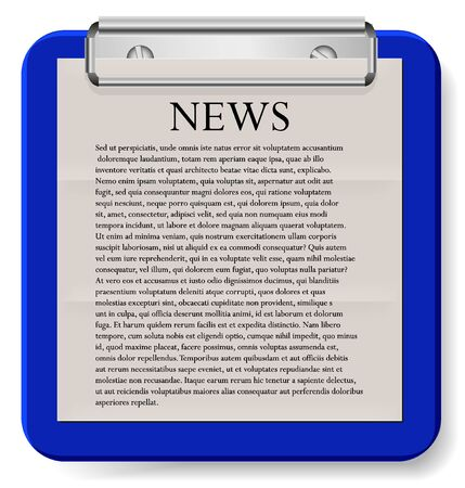 Vector clipboard with news isolated on white. Eps10 Stock Vector - 13373306