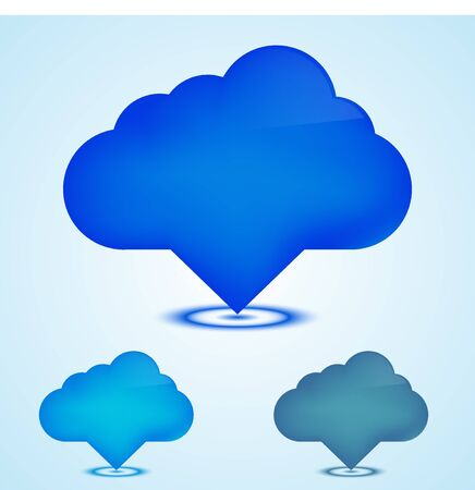 Vector web icons clouds set.  Vector