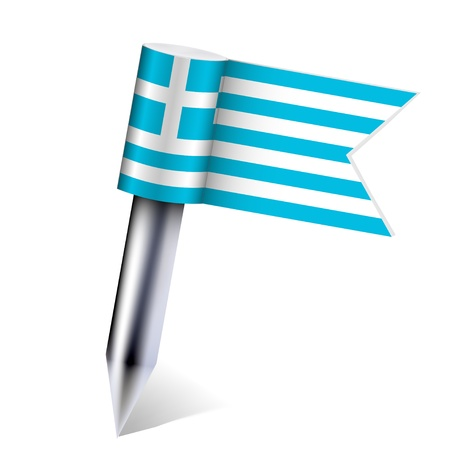 Vector Greece country flag isolated on white. Eps10 Stock Vector - 13535109
