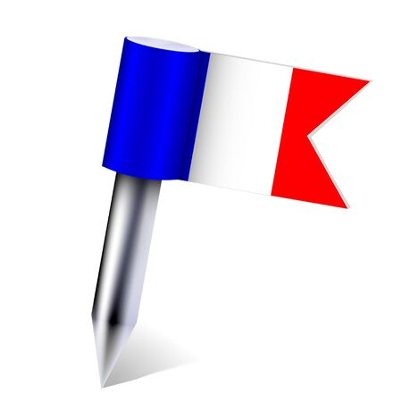 Vector France country flag isolated on white. Eps10 Stock Vector - 13535124