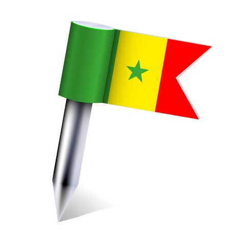 Vector Senegal country flag isolated on white. Eps10 Stock Vector - 13535120