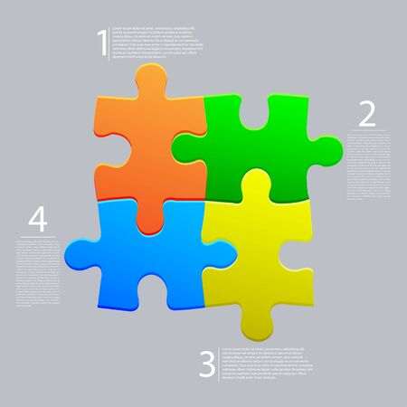 Vector abstract web puzzle. Creative background. Eps10 Vector
