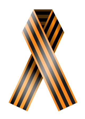 Vector St. George Ribbon isolated on white. Eps10 Vector