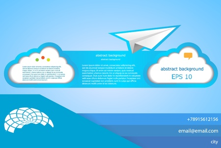 plane icon: Vector cloud abstract background. Web design element. Eps10