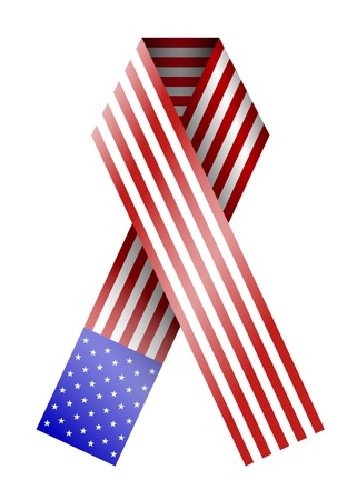 vector 4th of july ribbon isolated on white. eps10 Stock Vector - 13535205