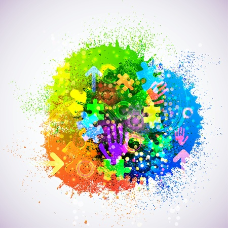 Vector creative abstract background. Eps10. Colorful illustration Vector