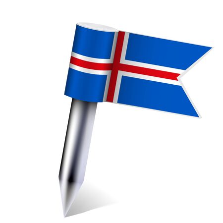 Vector Iceland flag isolated on white.  Stock Vector - 13595069