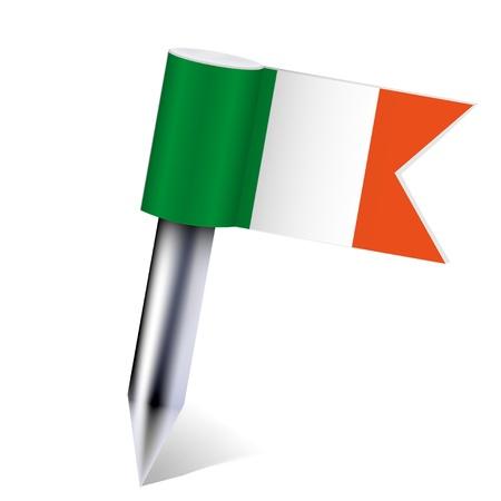 irish pride: Vector Ireland flag isolated on white.  Illustration