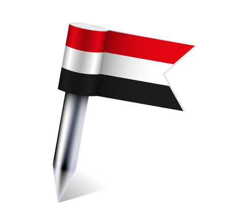 Vector Yemen flag isolated on white.  Vector
