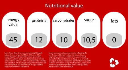 Vector nutritional value.