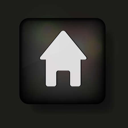 Vector home icon on black. Stock Vector - 13595085