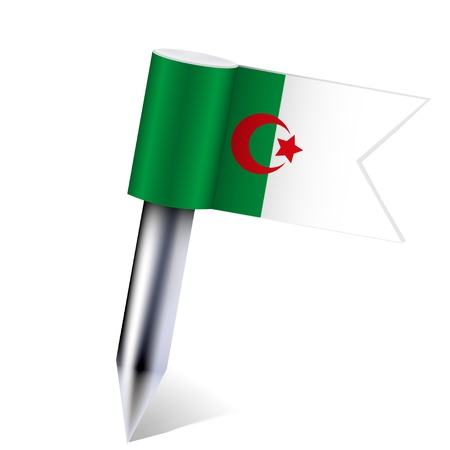 Vector Algeria flag isolated on white. Vector