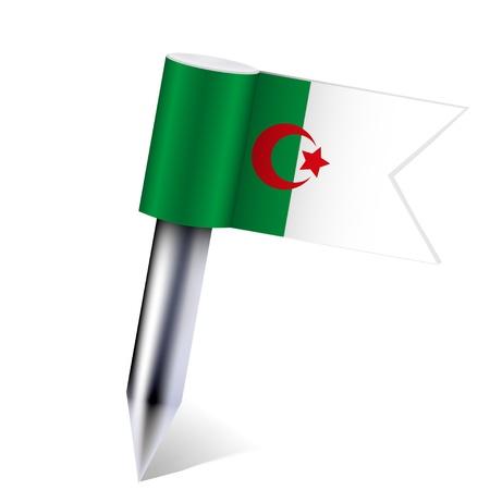 Vector Algeria flag isolated on white. Stock Vector - 13595100