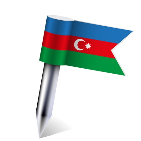 Vector Azerbaijan flag isolated on white. Vector