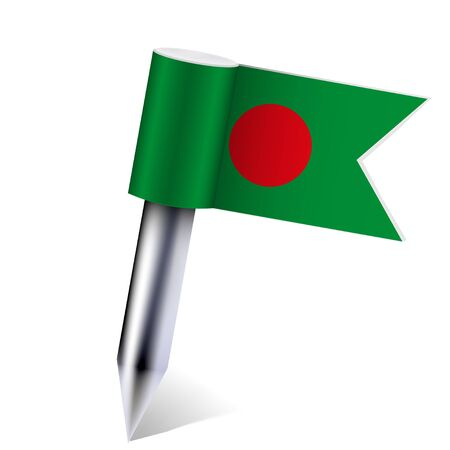 Vector Bangladesh flag isolated on white. Stock Vector - 13595089