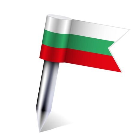 Vector Bulgaria flag isolated on white.  Vector