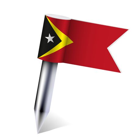 Vector East Timor flag isolated on white. Stock Vector - 13595090