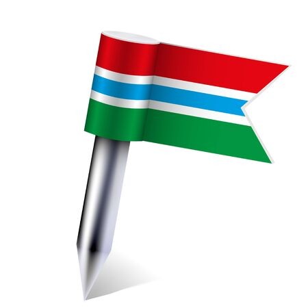gambia: Vector Gambia flag isolated on white. Illustration