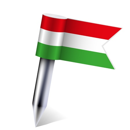 Vector Hungarian Republic flag isolated on white. Vector