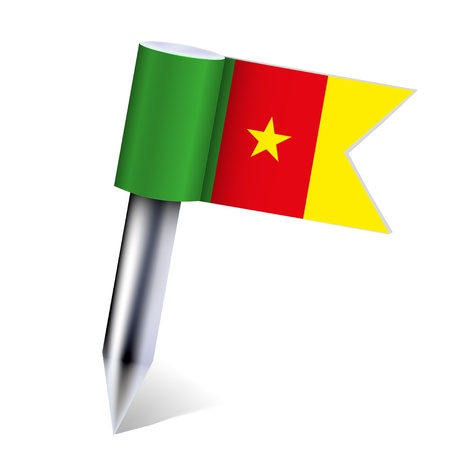 Cameroon flag isolated on white. Vector
