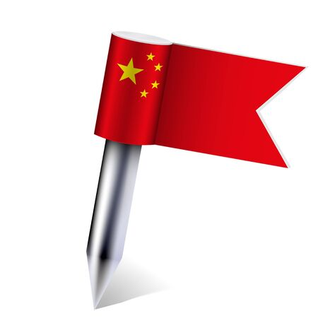 China flag isolated on white. Stock Vector - 13677626
