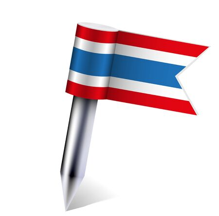 kingdom of Thailand flag isolated on white. Vector