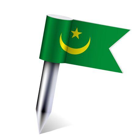 mauritania:  Mauritania flag isolated on white
