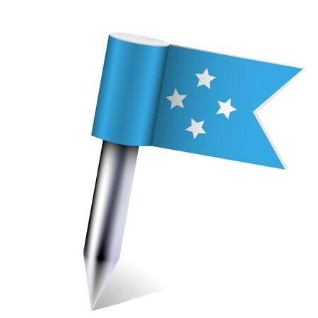 micronesia: Micronesia flag isolated on white  Illustration