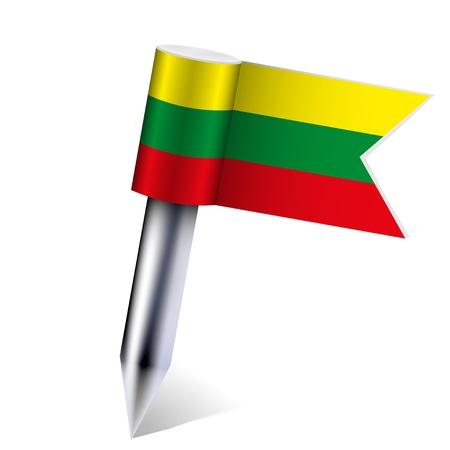 lithuania flag: Lithuania flag isolated on white