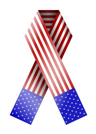 4th of july ribbon isolated on white Stock Vector - 13677746