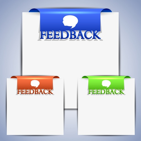 feedback set for web design. Vector