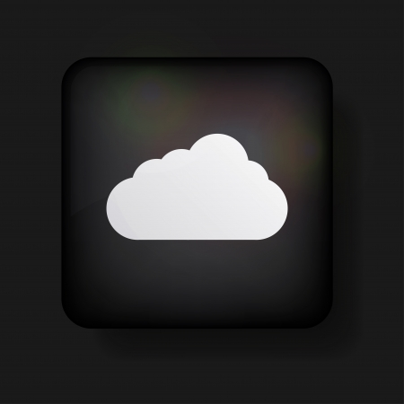 computer cloud icon on black. Stock Vector - 13698363