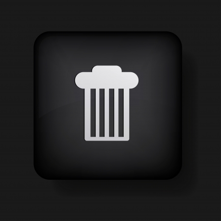 bin icon on black. Stock Vector - 13698420