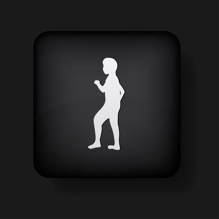human icon on black. Stock Vector - 13698411