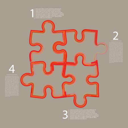Abstract web puzzle Vector