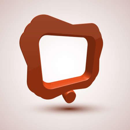 orange bubble speech Stock Photo - 13772554