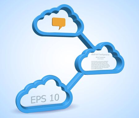 Vector computer cloud design. Eps10 Stock Vector - 13772578