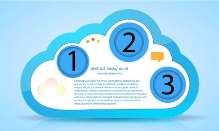Vector computer cloud web design. Eps10 Vector