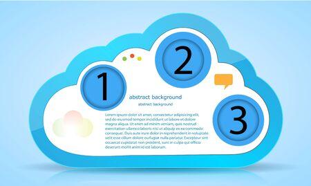 Vector computer cloud web design. Eps10 Stock Vector - 13772575